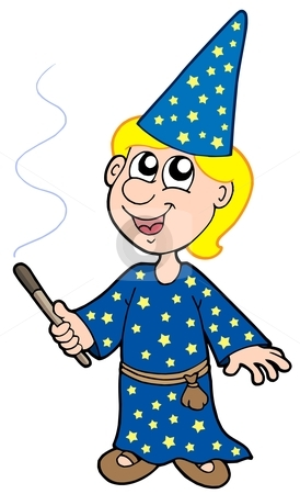 Magician clipart little Magician Small magician vector stock