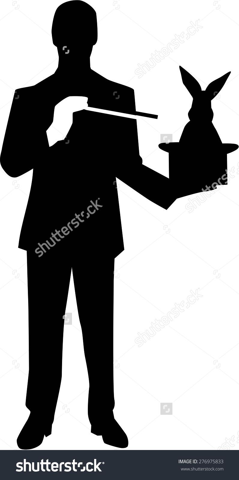 Magician clipart silhouette #10