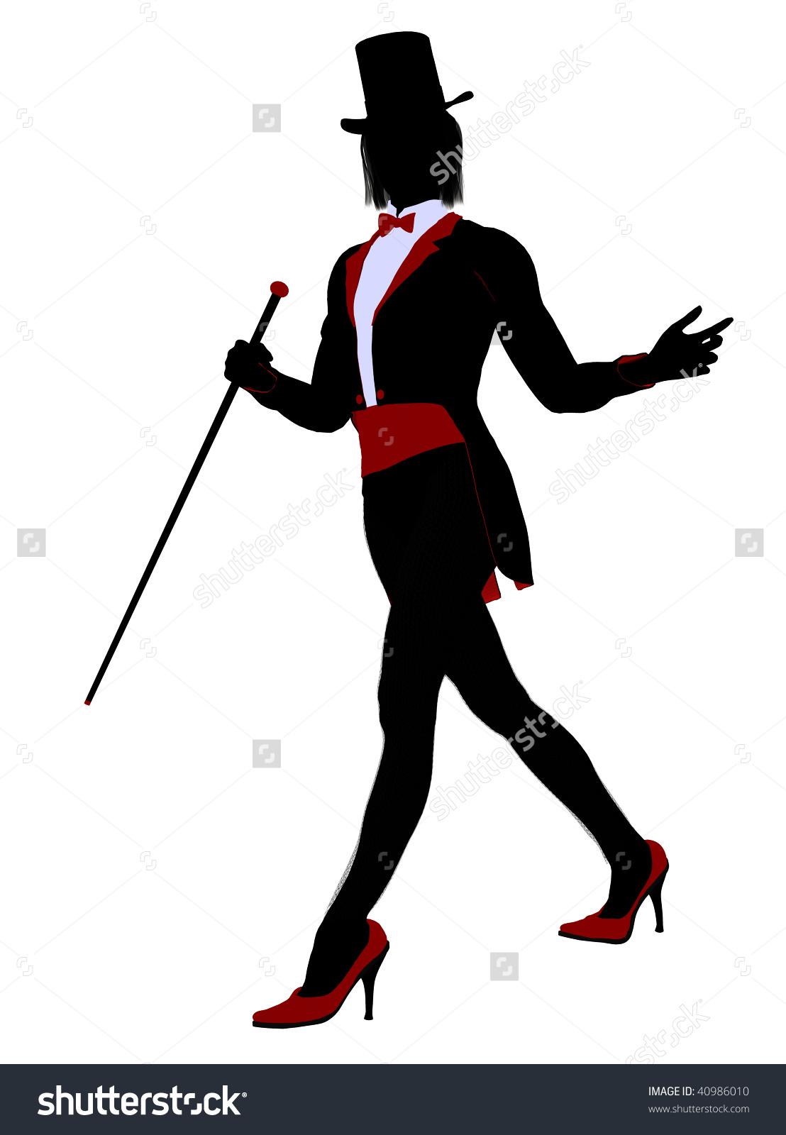 Magician clipart silhouette #6
