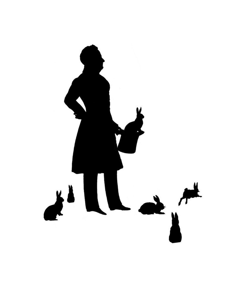 Magician clipart silhouette #9