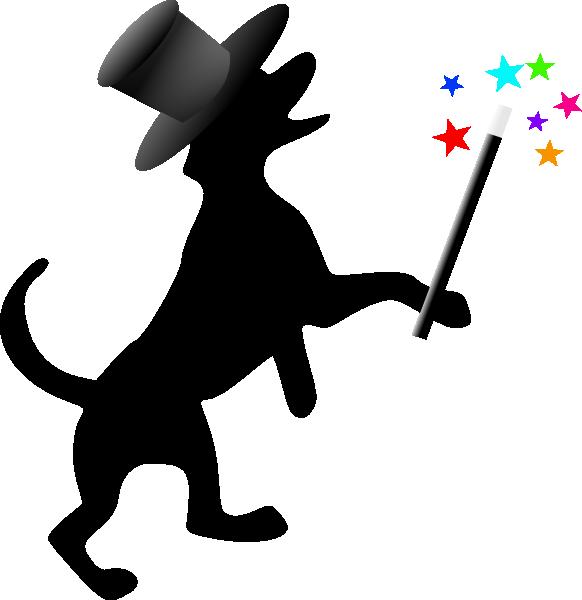 Magician clipart silhouette #12