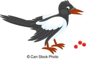 Magpie clipart Free Magpie Illustrations magpie 292