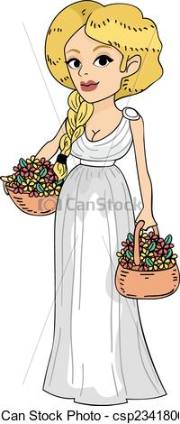 Maiden clipart Girl Clip Art Featuring of