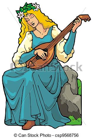Medieval clipart medieval maiden Clip Maid Medieval cliparts Maiden