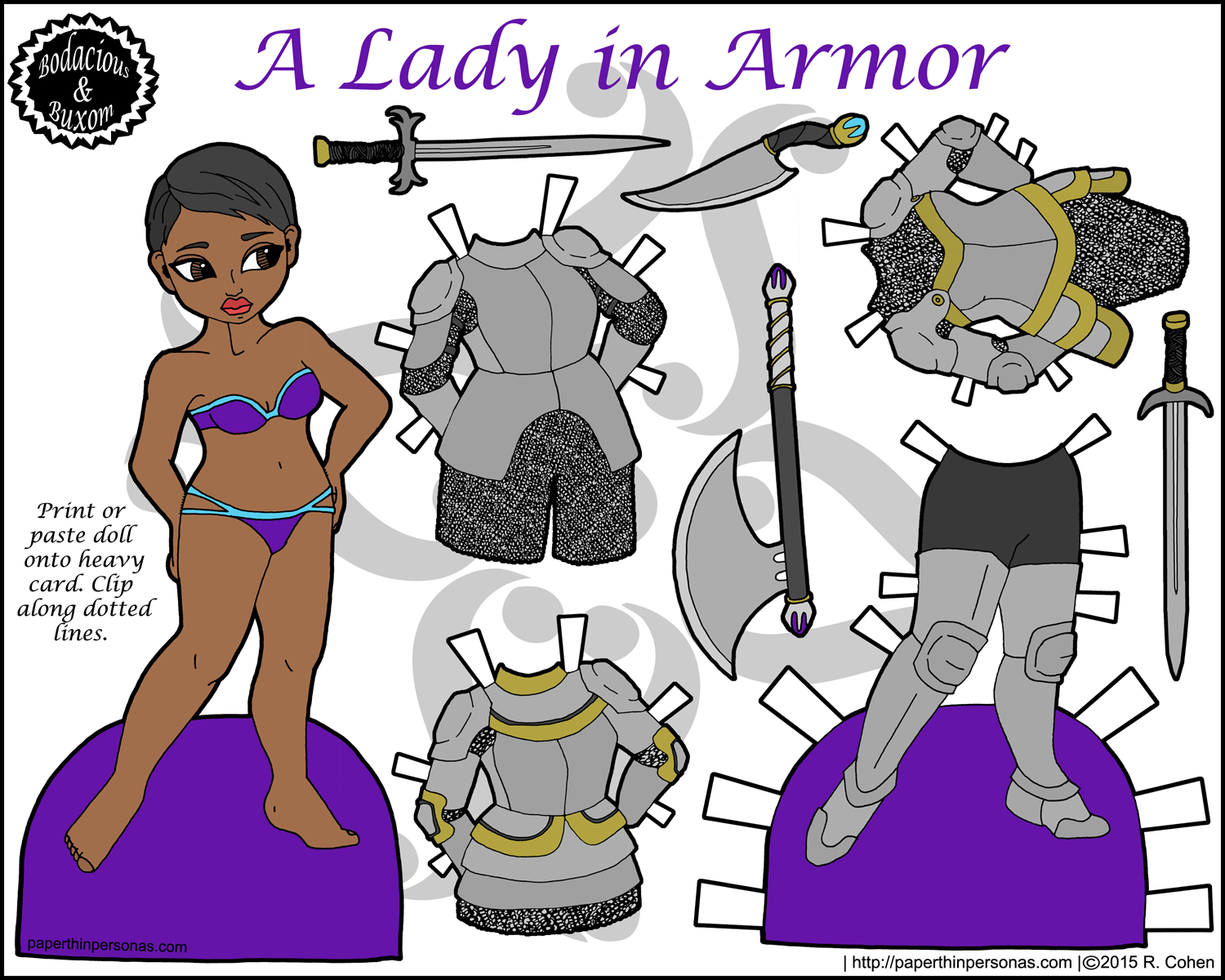 Maiden clipart knights armor Paper Lady Paper this {View