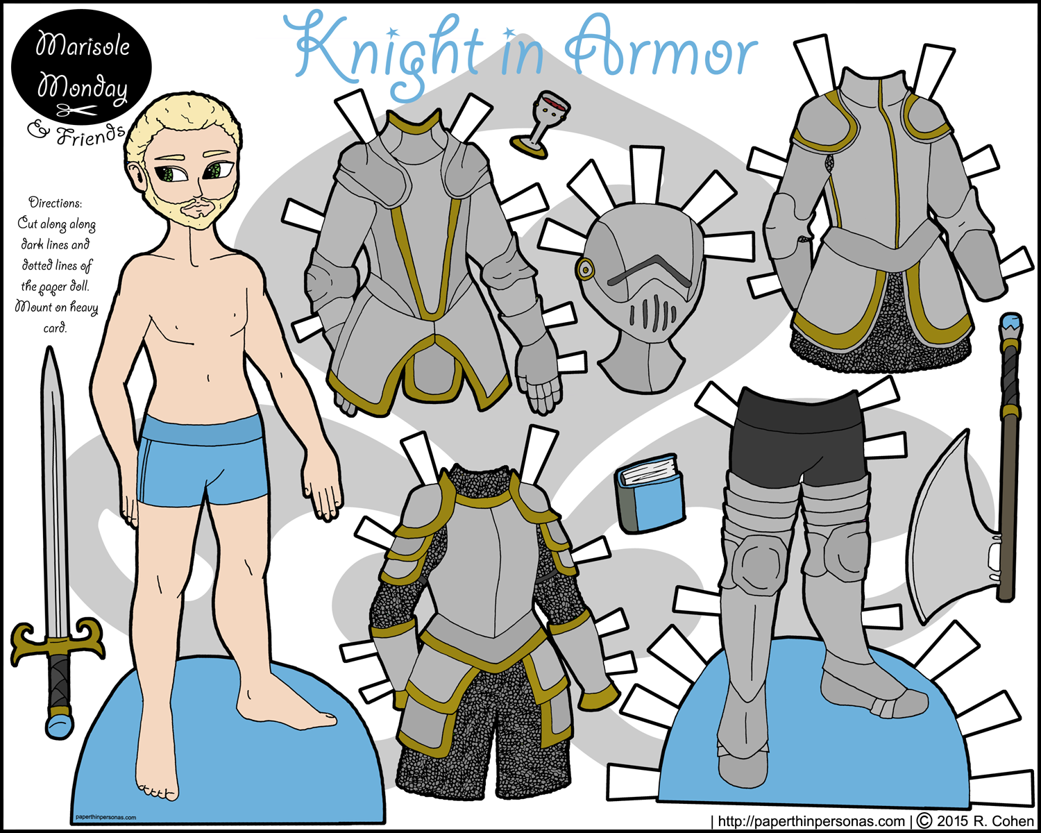Maiden clipart knights armor For paperthinpersonas Monday on will