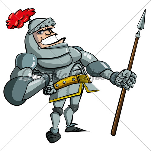 Maiden clipart knights armor Is Is Cartoon With Spear