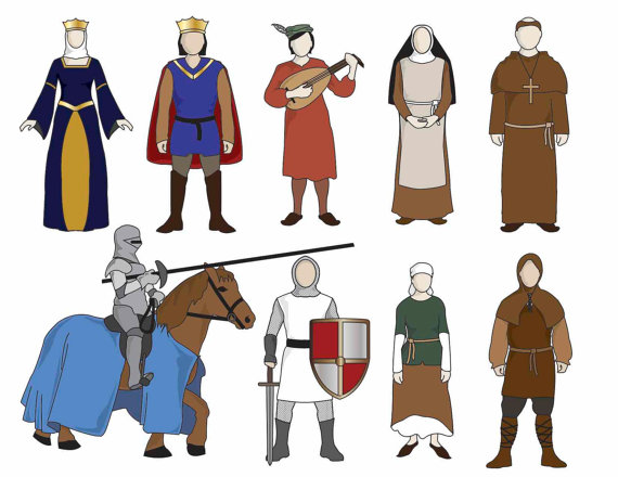 Maiden clipart medieval serf Items People Middle similar to