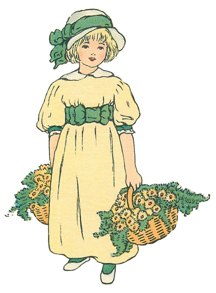 Maiden clipart village woman This with Girl Vintage sweetly