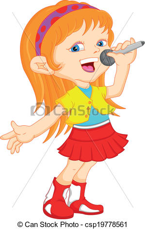 Singer clipart illustration Clipart clipart of singing kids