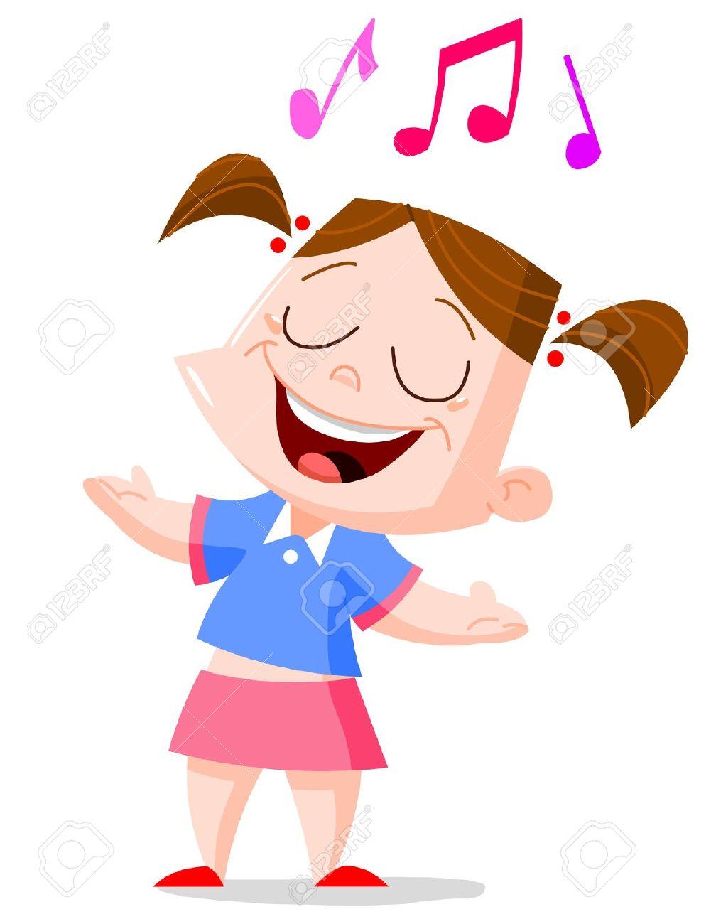 Singer clipart cute cartoon Singing clipart  98 Sing