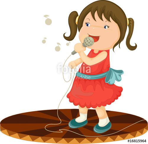 Singer clipart cute Singing girl on singing