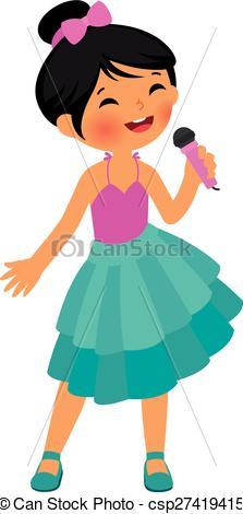Singer clipart female singer Singing singing Art of Stock