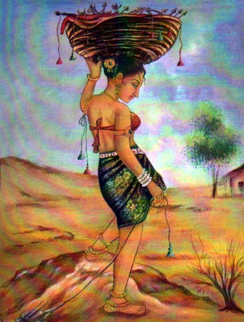 Maiden clipart village woman Varma My Girl Indian Art