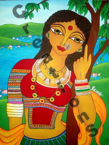 Maiden clipart village woman About Indian on Find Pinterest