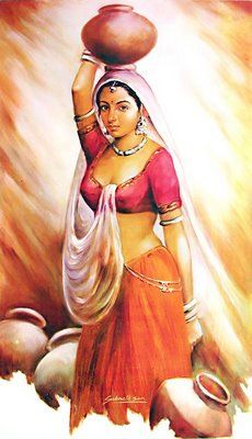 Maiden clipart village woman Or by Woman Indian carrying