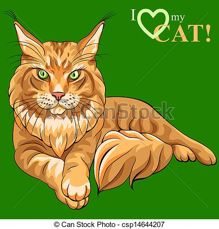Maine Coon clipart Fluffy Vector Vector Vector color