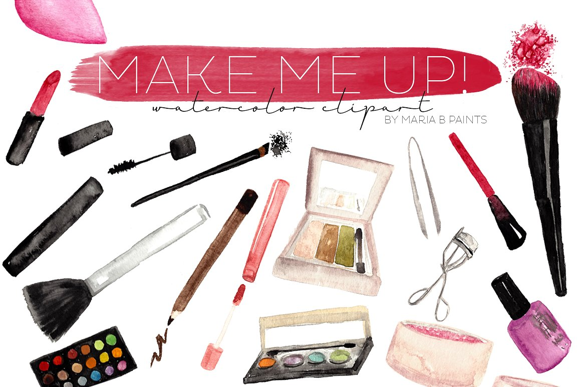 Makeup clipart Clipart Market Illustrations Creative Makeup