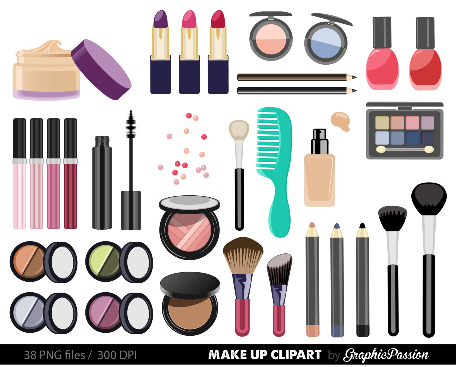 Makeup clipart frame Clipart Clipart Nail Digital Collection