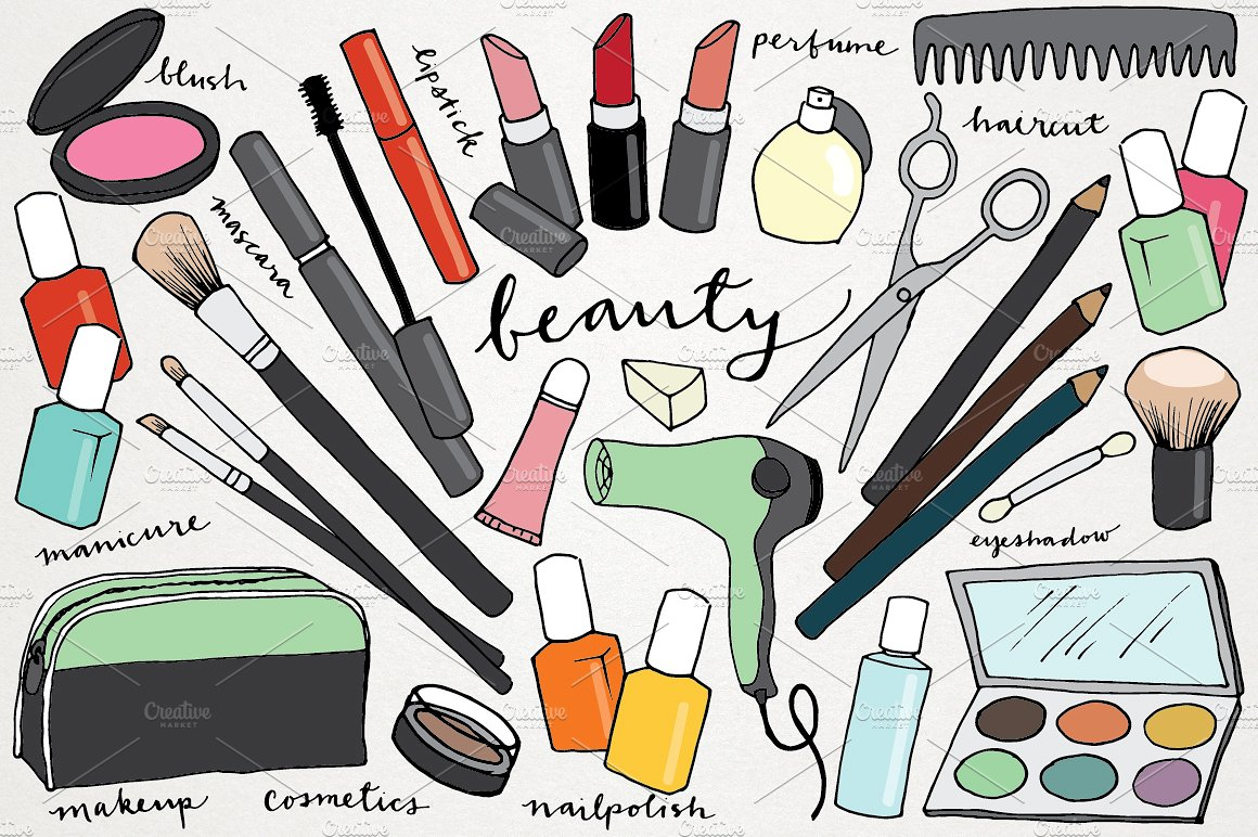Makeup clipart frame On Beauty & Drawn Makeup