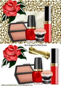 Makeup clipart basket Craftsuprint MAKEUP Clip GOLD Pinterest