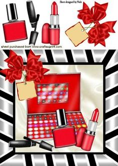 Makeup clipart basket On Craftsuprint LIPPY Pretty LADIES