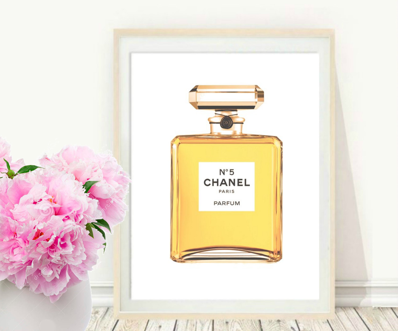 Perfume clipart coco chanel Art Art Wall Perfume Etsy