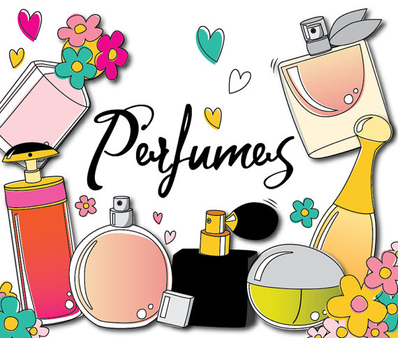 Makeup clipart chanel perfume Clipart Perfume CockatooDesign Use from