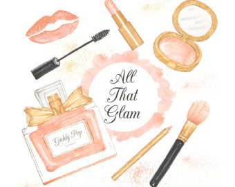 Makeup clipart chanel perfume Cosmetic planner clipart Fashion Makeup