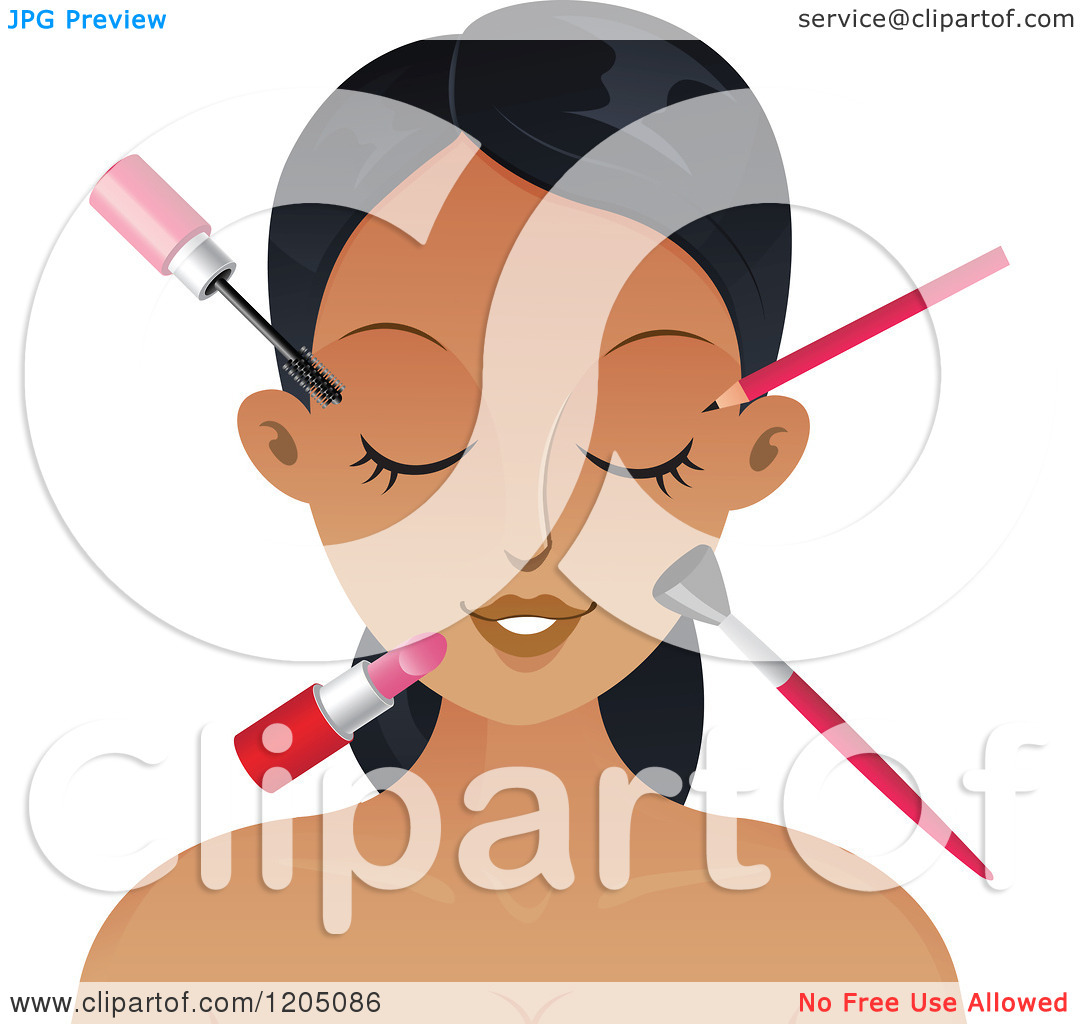 Makeup clipart cover photo  Cartoon Makeup Clipart