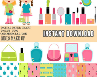 Makeup clipart cover photo Clipart Girl clipart Etsy digital