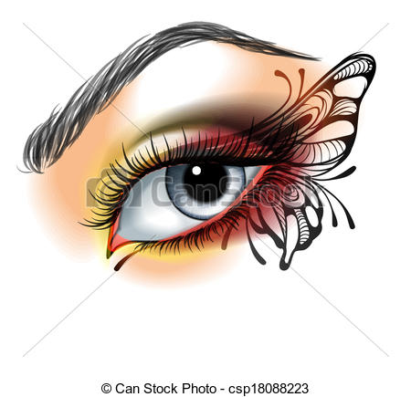 Makeup clipart silhouette  up with Eye of