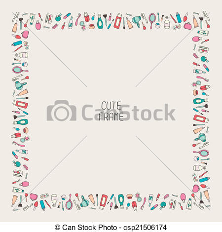 Makeup clipart frame Of hand Cute of frame