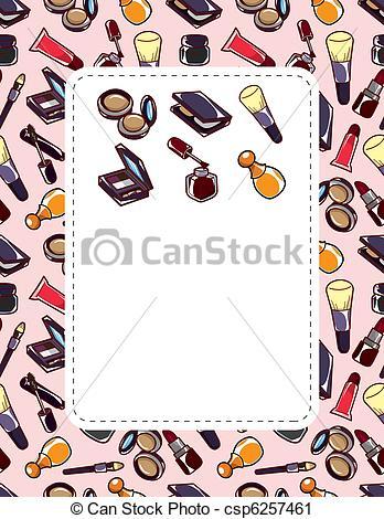 Makeup clipart frame Stock Illustrations makeup Art card