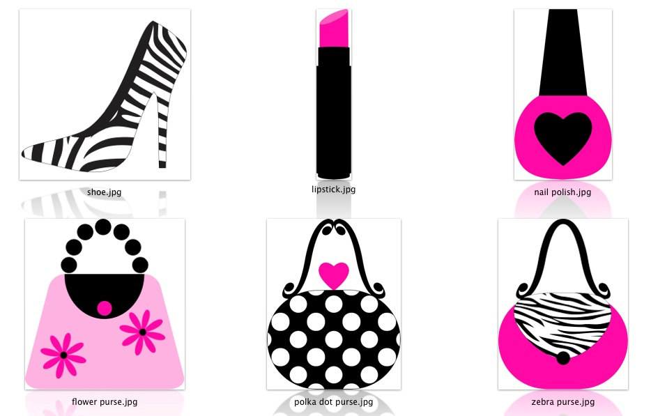 Zebra clipart shoe Hot Makeup is Pink Design