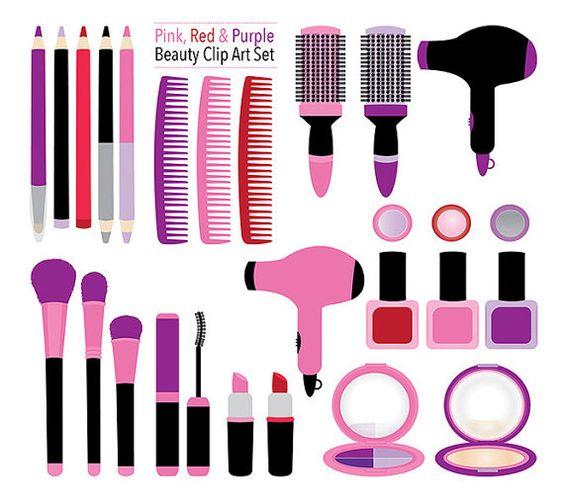 Makeup clipart girly Makeup makeup digital clipart girly