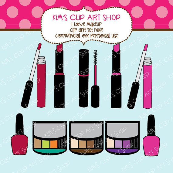 Makeup clipart outline 00 for $5 by #kimsclipartshop