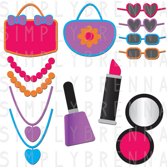 Makeup clipart jewelry Art Purses Girly Commercial DOWNLOAD
