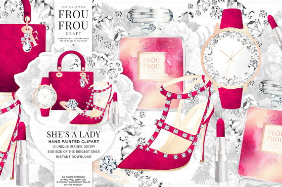 Makeup clipart jewelry Jewelry Shoes Fashion Theme Girly