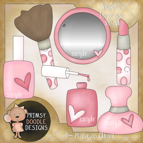 Makeup clipart jewelry Clipart Girly Art Girl 11
