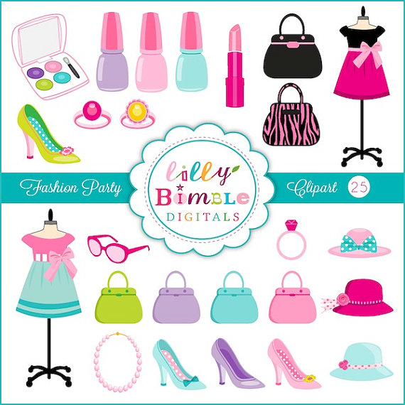 Makeup clipart jewelry Instant Instant Clipart Makeup with