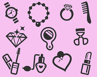 Makeup clipart jewelry Makeup Icons Etsy Jewelry Clipart