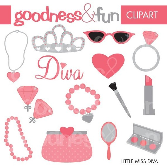 Makeup clipart jewelry Digital Makeup Buy from Etsy
