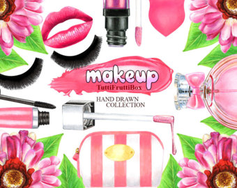 Makeup clipart jewelry Cosmetic Makeup Fashion Clip Glamour