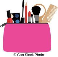 Makeup clipart makeup bag 14 make  vector with