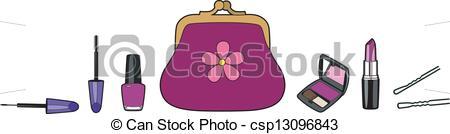 Makeup clipart makeup bag Clipart Pictures golden bag of