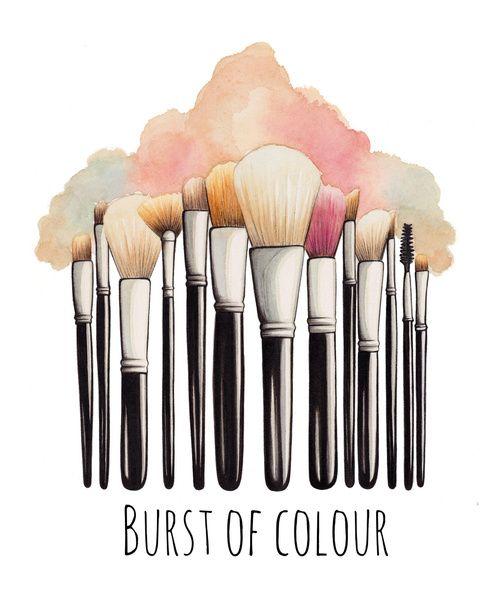 Drawn makeup 115 images Illustration Illustration Brushes