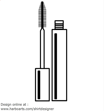 Makeup clipart outline Mascara idea outline of this
