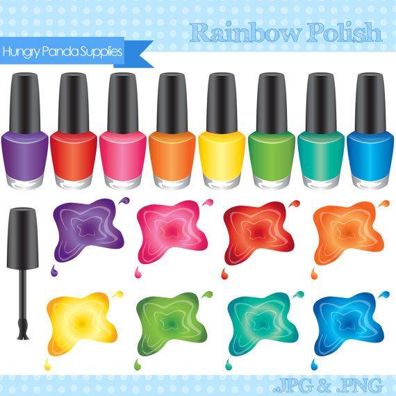 Iiii clipart nail Polish Nail Rainbow ꧁Cosmetics꧁ digital