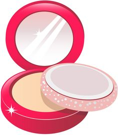 Makeup clipart powder  by Girly on TRANSPARENT